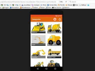 Mobile apps for construction company- Android/PHP