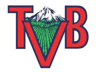 Tualatin Valley Blueberries Logo Vectorization