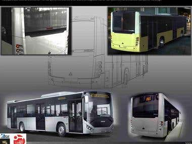 bus interior-exterior design samples