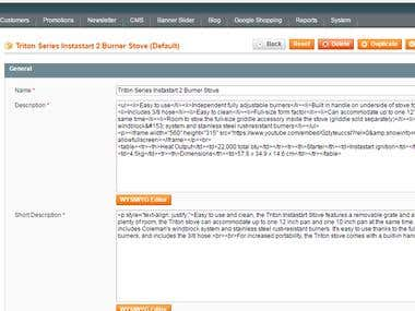 Magento Product Listing