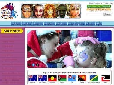 TheFacePaintShop.com - Company site with e-commerce Section