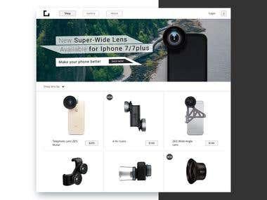 "Mobile Phone Lenses ""Webstore"""