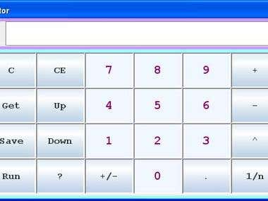 Calculator using stack (Java)