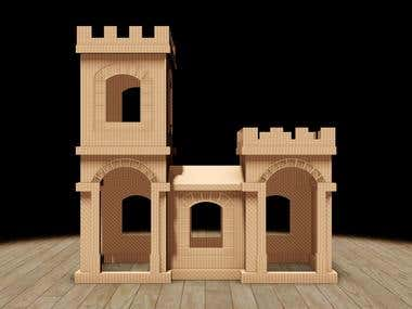 Cardboard toy design-Castle