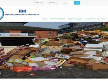 Website de IBR - Instituto Brasileiro de Reciclagem