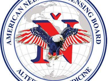 """American """"Nedicine"""" Licensing Board logo"""