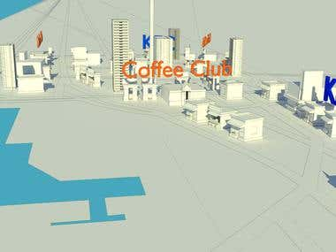 3d Animated Map of Queen Street of Auckland,NZ