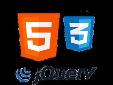HTML 5 , CSS 3 and jQuery