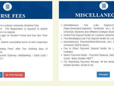 Online Fee Collection Portal