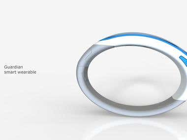 Guardian -smart wearable with charging dock design