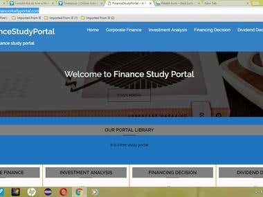 Finance Study Portal