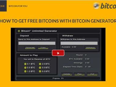 Bitcoin Generator Site - On-Page SEO & Off-Page SEO