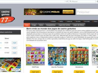 Translation of Casino-related webpage & articles.