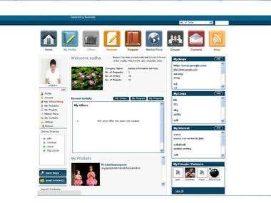 Combination of Linkedin, Facebook, online business