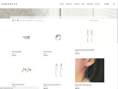 Serenity is a jewelry app that is developed in WordPres CMS