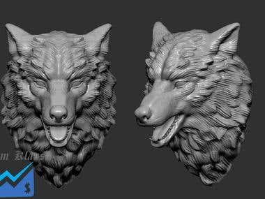 3d print wolf