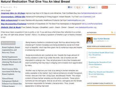 Natural Medication That Give You An Ideal Breast