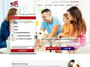 Home For Heros Website