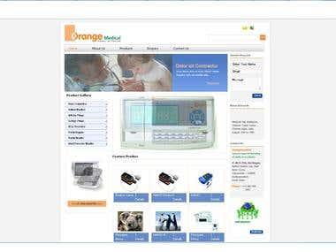 E commerce Application for medical instruments