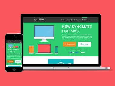 Redesign concept for SyncMate website
