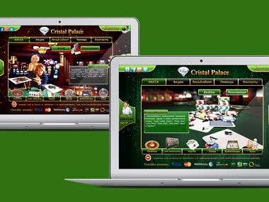 Online casino website design.