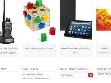 Online Shopping Website Work