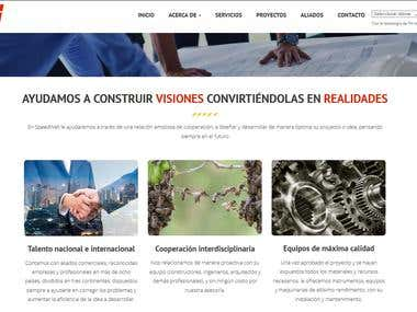 Corporate responsive web design with fresh and modern style