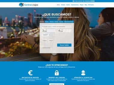 Diseño web reserva de hoteles y vuelos