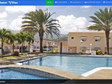 Responsive website design for a Residential in Margarita Isl