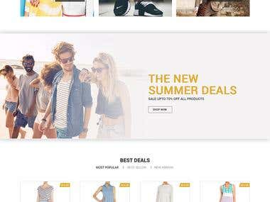 E commerce mock up design