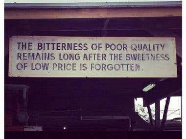 What is The Cost of a POOR QUALITY ?