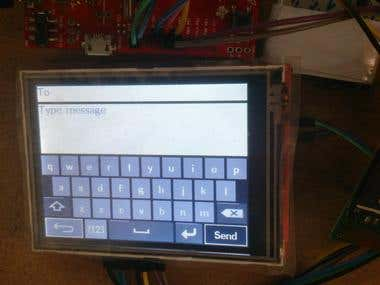 SMS Transmission using Graphics Touch LCD
