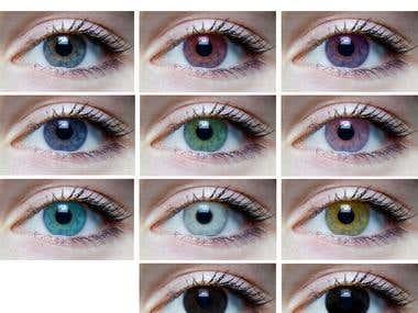Eyes lens color change