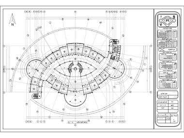 Working & shop drawings for a mall