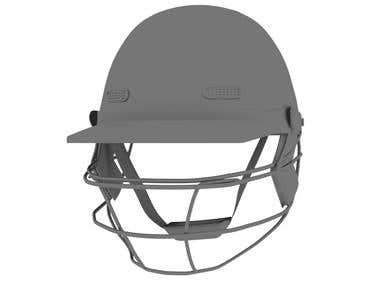 3D Cricket Helmat