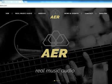 WordPress Website - http://aer-loudspeakers.com