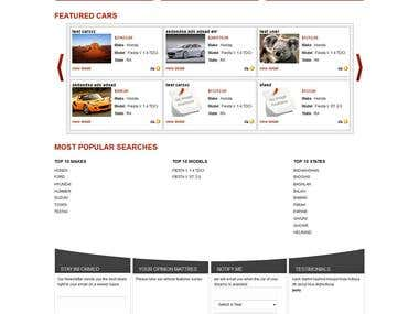 car website in cakephp