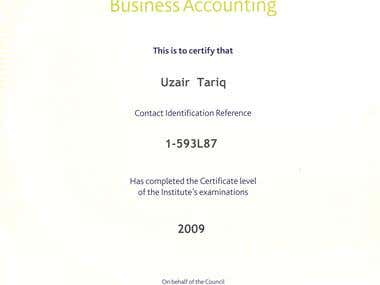 Certification In Business Accounting