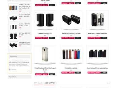 Ecigaretteshop.com.au online woo-commerce store