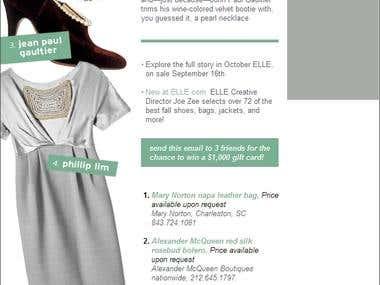 ELLE Magazine Newsletter