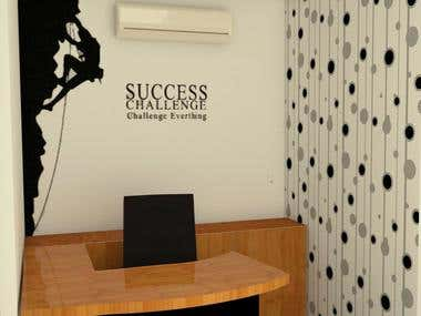 Different office interior feature wall designs