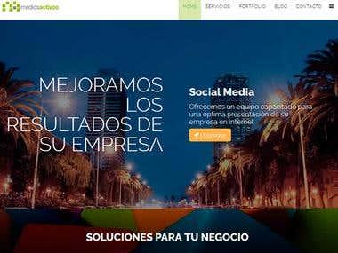 Creación del portal web de la agencia mediosactivos.com