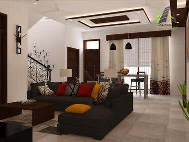 Lounge Interior rendering