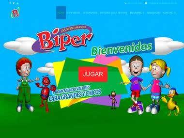Las Aventuras de Biper diseño web lasaventurasdebiper.com.ar