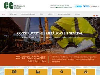 Diseño web para la empresa www.metalurgicacecchi.com.ar