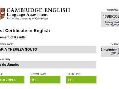 CAMBRIDGE UNIVERSITY CERTIFIED.