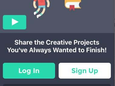 Social media app for creative projects