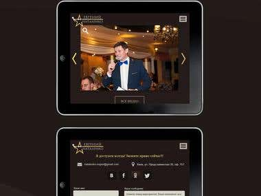 Responsive promo website natalenko.com.ua