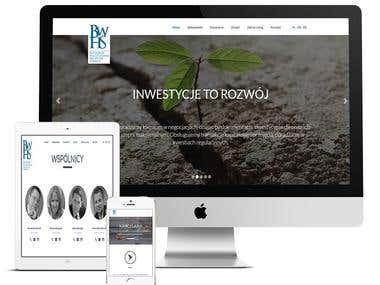 Strona kancelarii prawniczej BWHS
