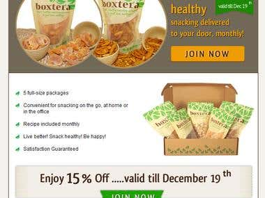 Boxtera Email Newsletter